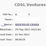 "KYC Status Difference -""MF-Verified By cvlmf"" & ""KYC Verified By CVLKRA"""