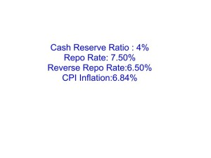 Saving-Ideas.com - CRR,Repo rate,Reverse Repo Rate