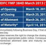 HDFC Mutual Fund Fixed Maturity Plan – FMP 384 Days March 2013: