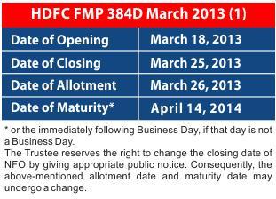 Saving-Ideas.com - HDFC FMP 384 D March 2013